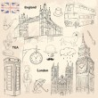 London set — Stock Vector