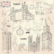 London set - Stock Vector