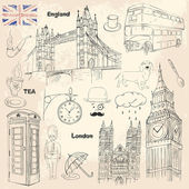 London set — Stock Vector