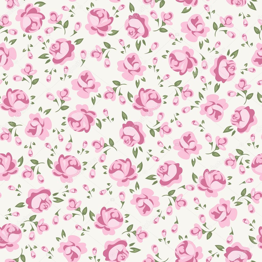 Shabby Chic Rose   Stock Illustration