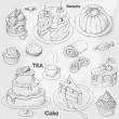 Cakes set — Stock Vector #18956879