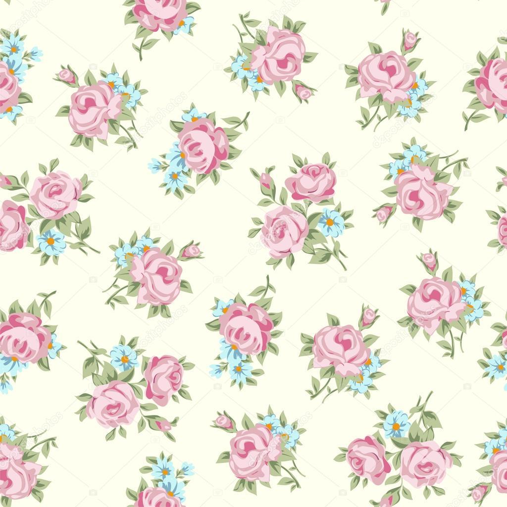 Shabby Chic Roses Pattern