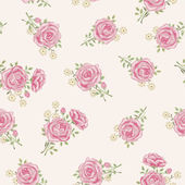 Vintage rose pattern — Stock Vector