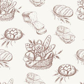 Bakery pattern — Stock Vector