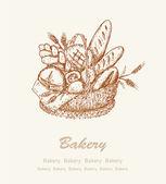 Bakery background 2 — Stock Vector
