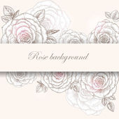 Rose background 2 — Stock Vector