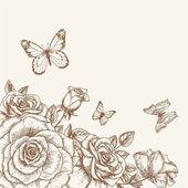 Rose och fjärilen 3 — Stockvektor