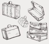 Suitcases set — Stock Vector