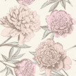 Seamless peony sketch pattern. — Stock Vector #28708965