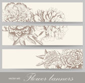 Vintage flower banners. — Stock Vector