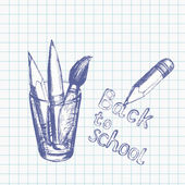 Back to school background 3 — Stock Vector