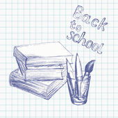 Back to school background 4 — Stock Vector