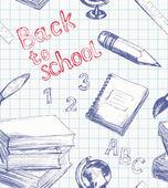 回学校模式 — 图库矢量图片
