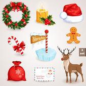 Christmas icons set - 2 — Stock Vector