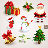 Christmas icons set - 1 — Stock Vector