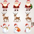 Christmas icons set - 3 — Vettoriale Stock  #34284215