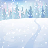 Winter landscape 4 — Vector de stock