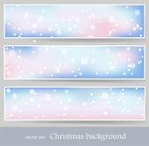 Winter banners 1 — Stockvektor