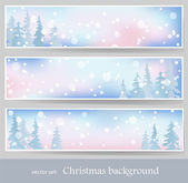 Winter banners 2 — Stock Vector