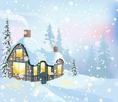 Paisagem de inverno 3 — Vetor de Stock