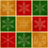 Snow fake pattern 3 — Stockvektor