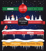 Web site Christmas elements — Stock Vector
