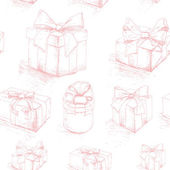 Gift box seamless pattern 3 — Stock Vector