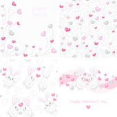 Set Valentine backgrounds — Stock Vector