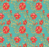 Floral seamless vintage pattern 2 — Stock Vector
