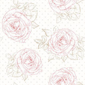 Rose pattern with Polka dot — Vector de stock