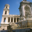 Fragment of Fontaine Saint Sulpice. — Stock Photo #12355030