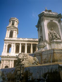 Fragment of the Fontaine Saint Sulpice. — Stock Photo