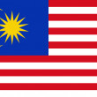 Flag of Malaysia. - Stock Photo
