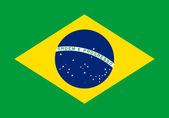 Flag of Brazil. — Stock Photo