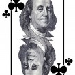 Stock Photo: King of clubs.