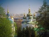 Vydubychi monastery in spring. Kyiv, Ukraine. — Stock Photo