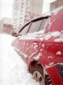 After snowstorm in the city. — Stock Photo