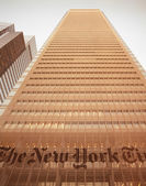 NYC - look up. The New York Times Building. — Stock Photo