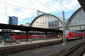 Frankfurt central station Germany — Stock Photo