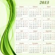 Calendar for the year 2013. - Stock Vector