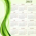 Calendar for the year 2013. — Stock Vector