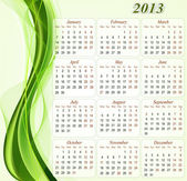 Calendar for the year 2013. — Stock Vector