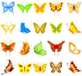 Set of butterflies — Vector de stock