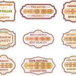 Vintage label set — Stock Vector #28896459