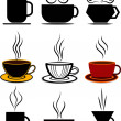 Coffee cups set — Stock Vector