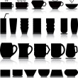 Cups set — Stock Vector