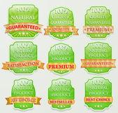 Vector badge design set — Stock Vector