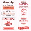 Vintage Retro Bakery Badges And Labels  — Stock Vector