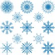 Snowflakes Vector Set — Stock Vector