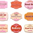Stock Vector: Collection of vintage retro bakery logo badges and labels